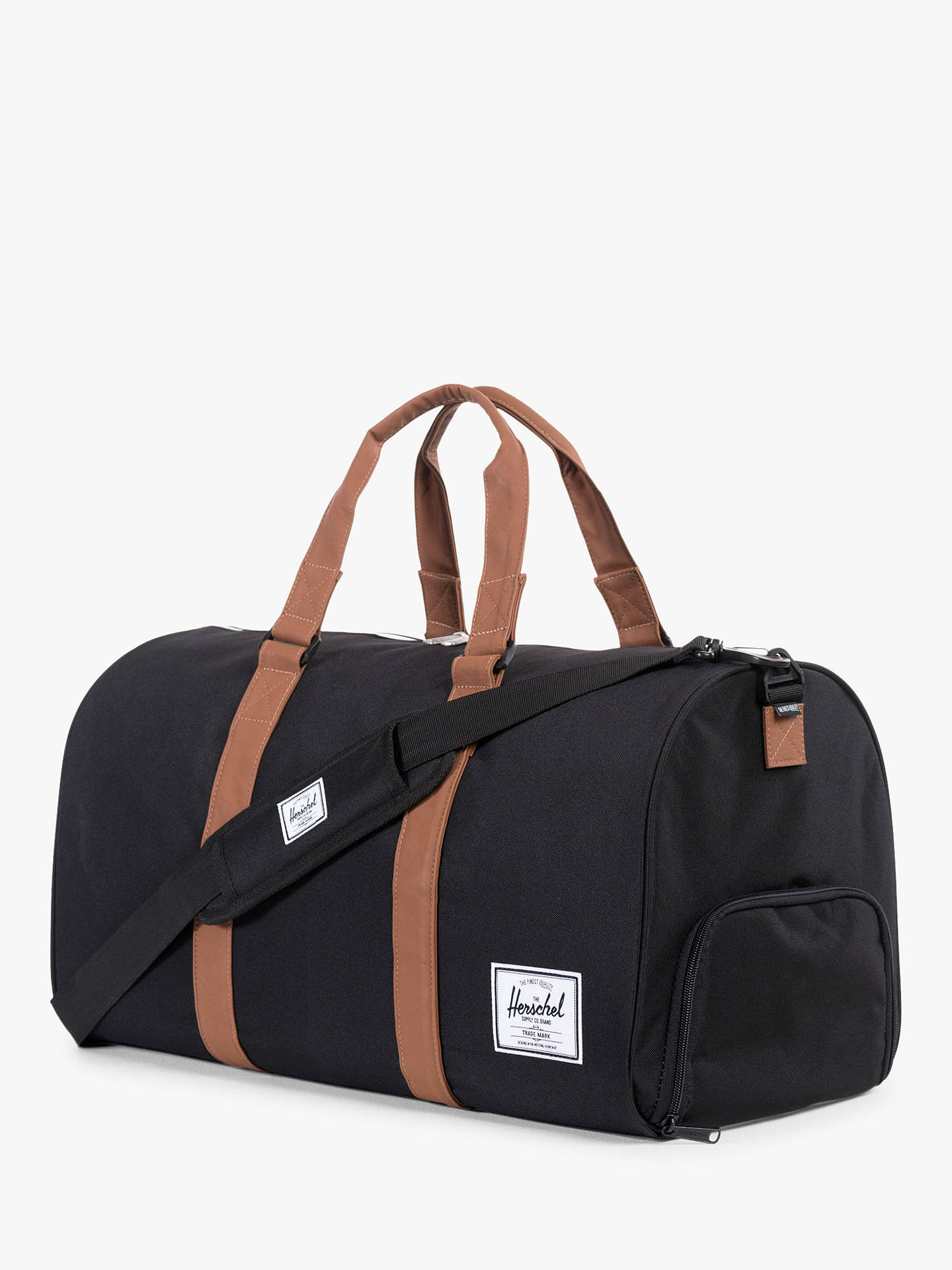 Buy Herschel Supply Co. Novel Duffle Holdall, Black Online at johnlewis.com