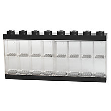 Buy LEGO Minifigure Display Case, 16 Figures, Black Online at johnlewis.com