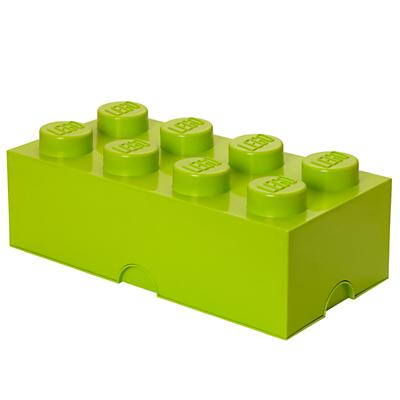 LEGO 8 Stud Storage Brick, Lime