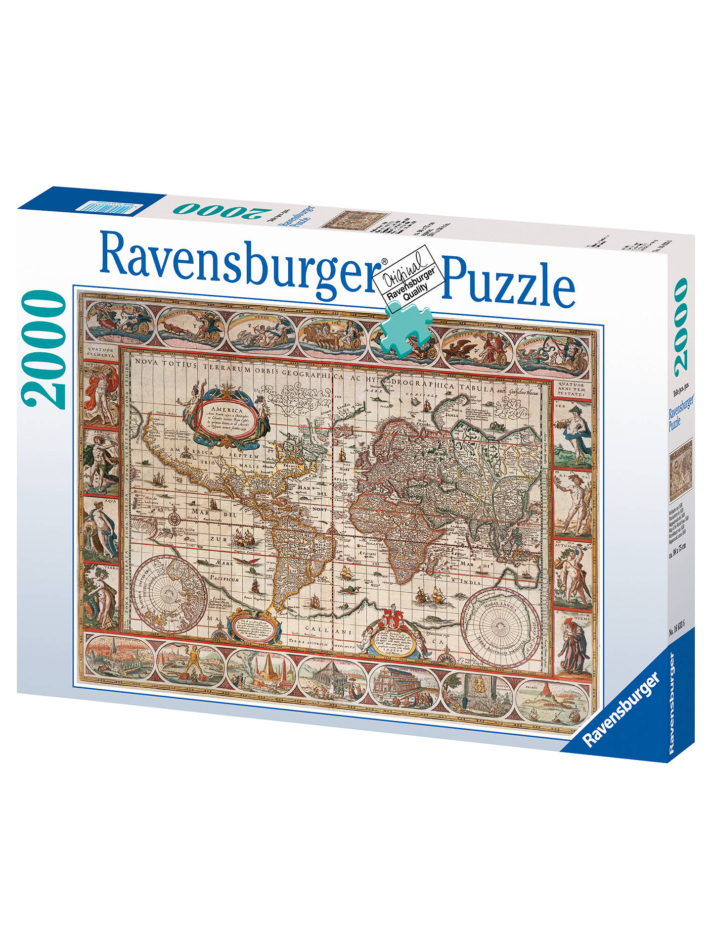 Ravensburger 1650 world map jigsaw puzzle 2000 pieces at john lewis buyravensburger 1650 world map jigsaw puzzle 2000 pieces online at johnlewis gumiabroncs Gallery