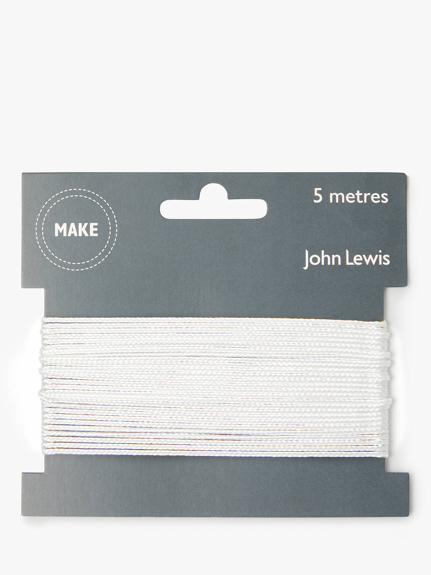BuyJohn Lewis & Partners Cord, 1mm, White Online at johnlewis.com