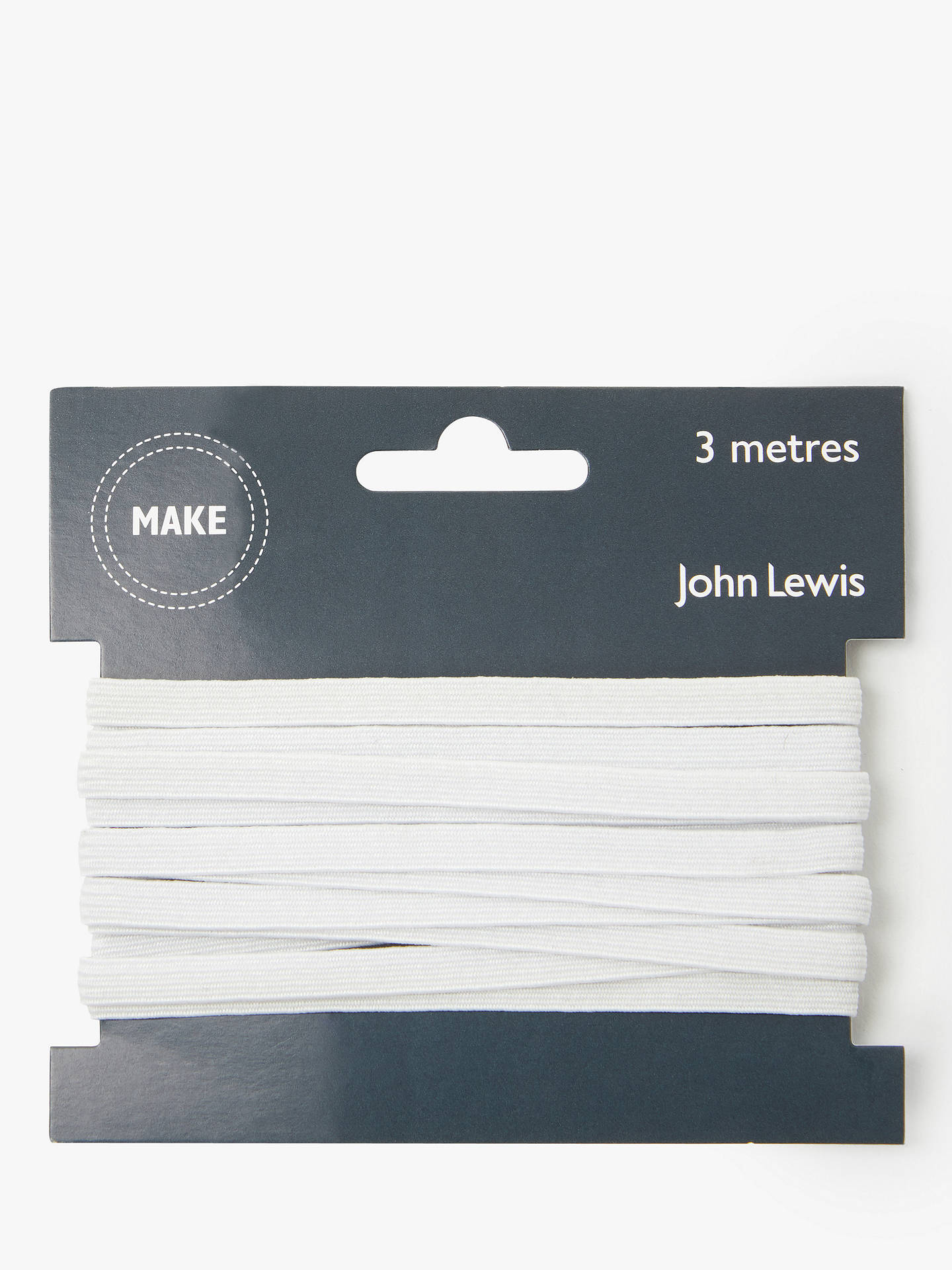 Buy John Lewis & Partners Elastic, 6mm, White Online at johnlewis.com