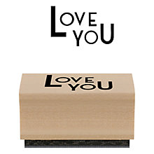 Buy East of India 'Love You' Stamp, Multi Online at johnlewis.com