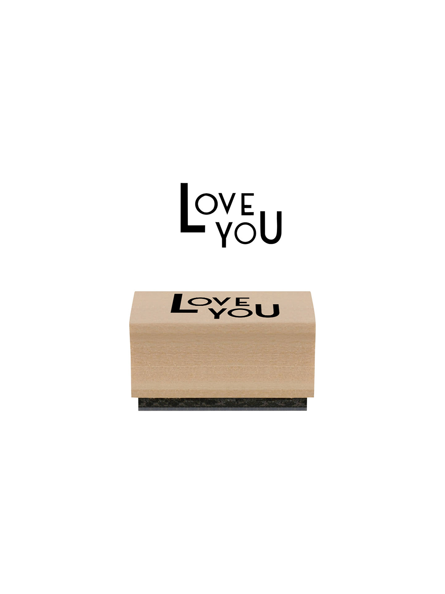 BuyEast of India 'Love You' Stamp, Multi Online at johnlewis.com