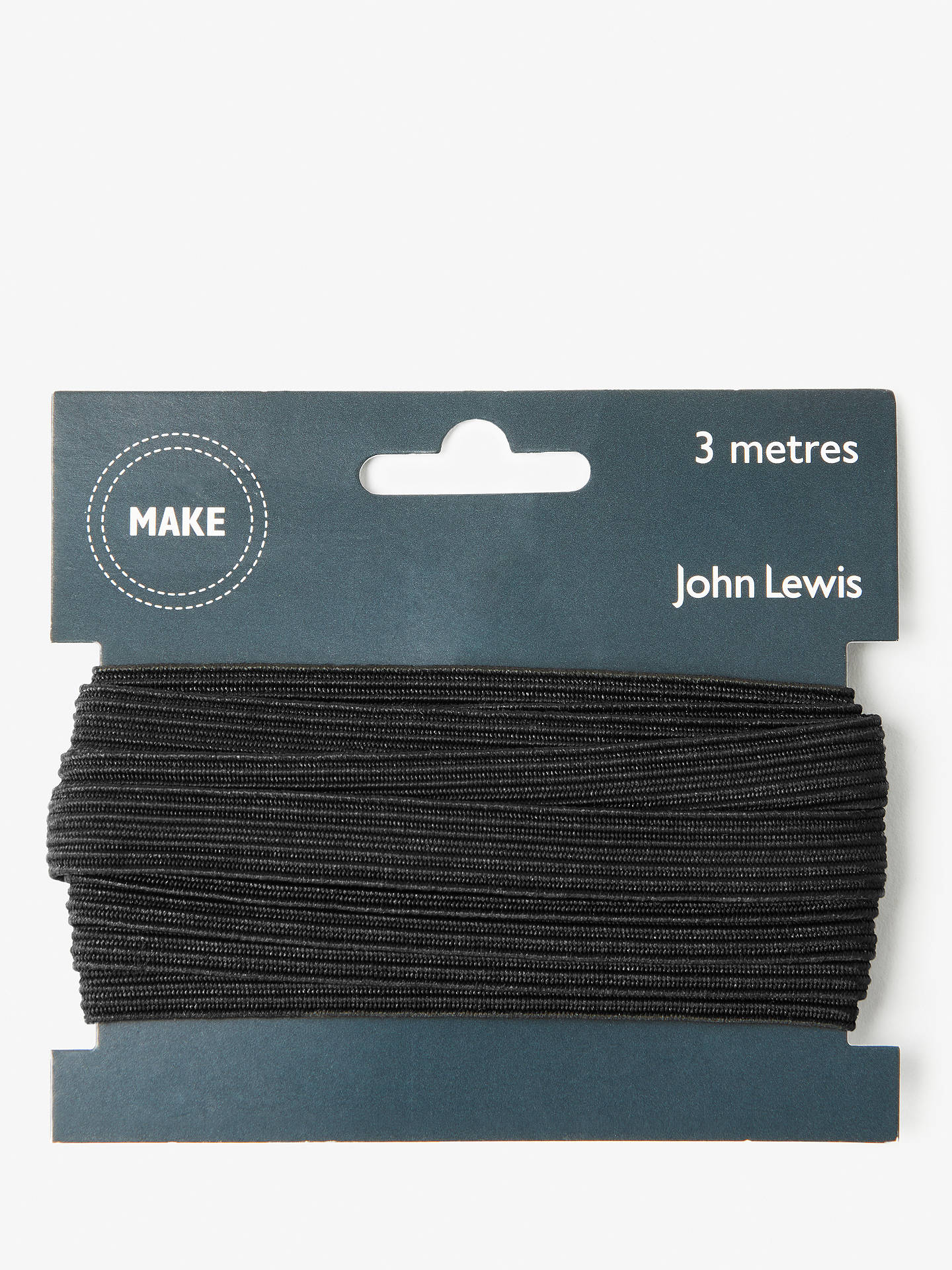 BuyJohn Lewis & Partners Elastic, 13mm, Black Online at johnlewis.com