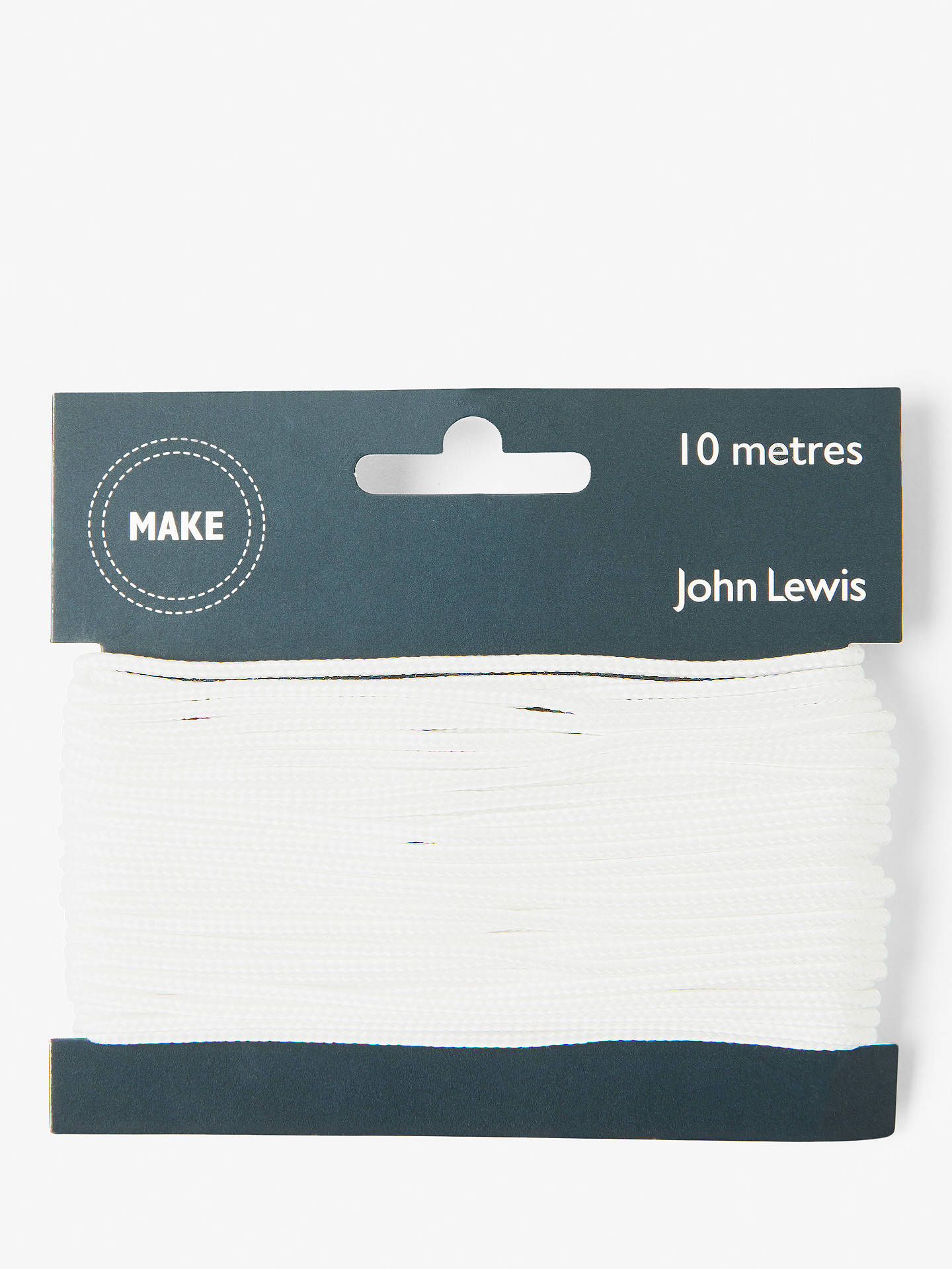 Buy John Lewis & Partners Cord 2mm, White Online at johnlewis.com