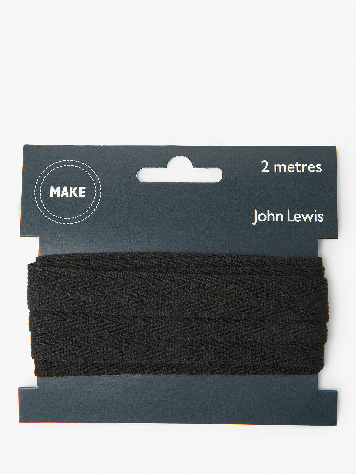 Buy John Lewis & Partners Herringbone Tape, 15mm, Black Online at johnlewis.com