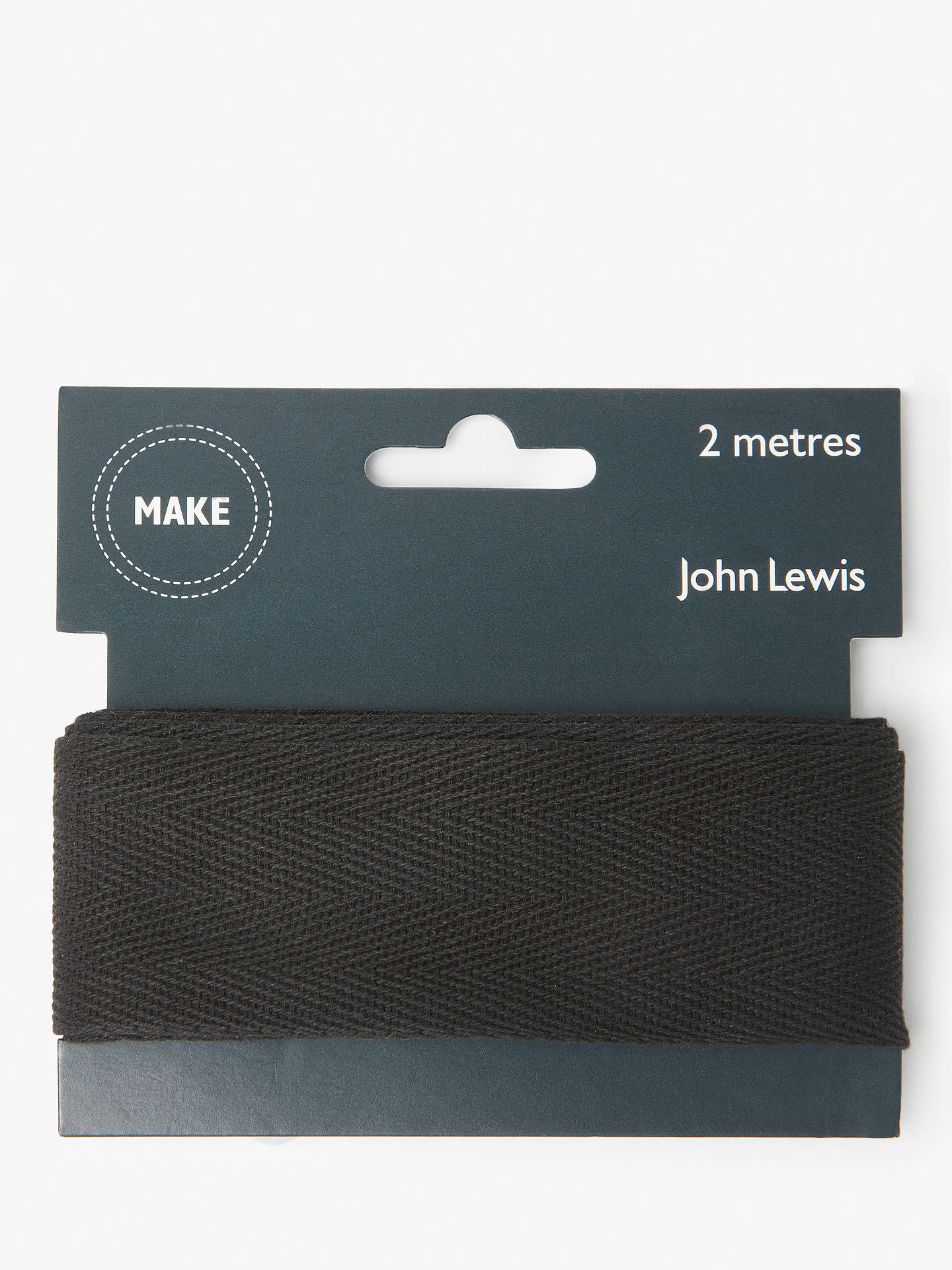 BuyJohn Lewis & Partners Herringbone Tape, 38mm, Black Online at johnlewis.com
