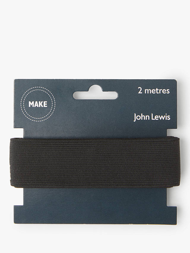 Buy John Lewis & Partners Woven Elastic, 32mm, Black Online at johnlewis.com
