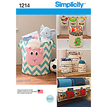 Buy Simplicity Home Decoration Organizers Sewing Pattern, 1214, One Size Online at johnlewis.com