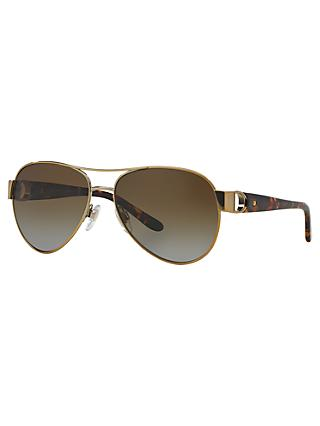 Ralph Lauren RL7047Q Polarised Aviator Sunglasses, Gold
