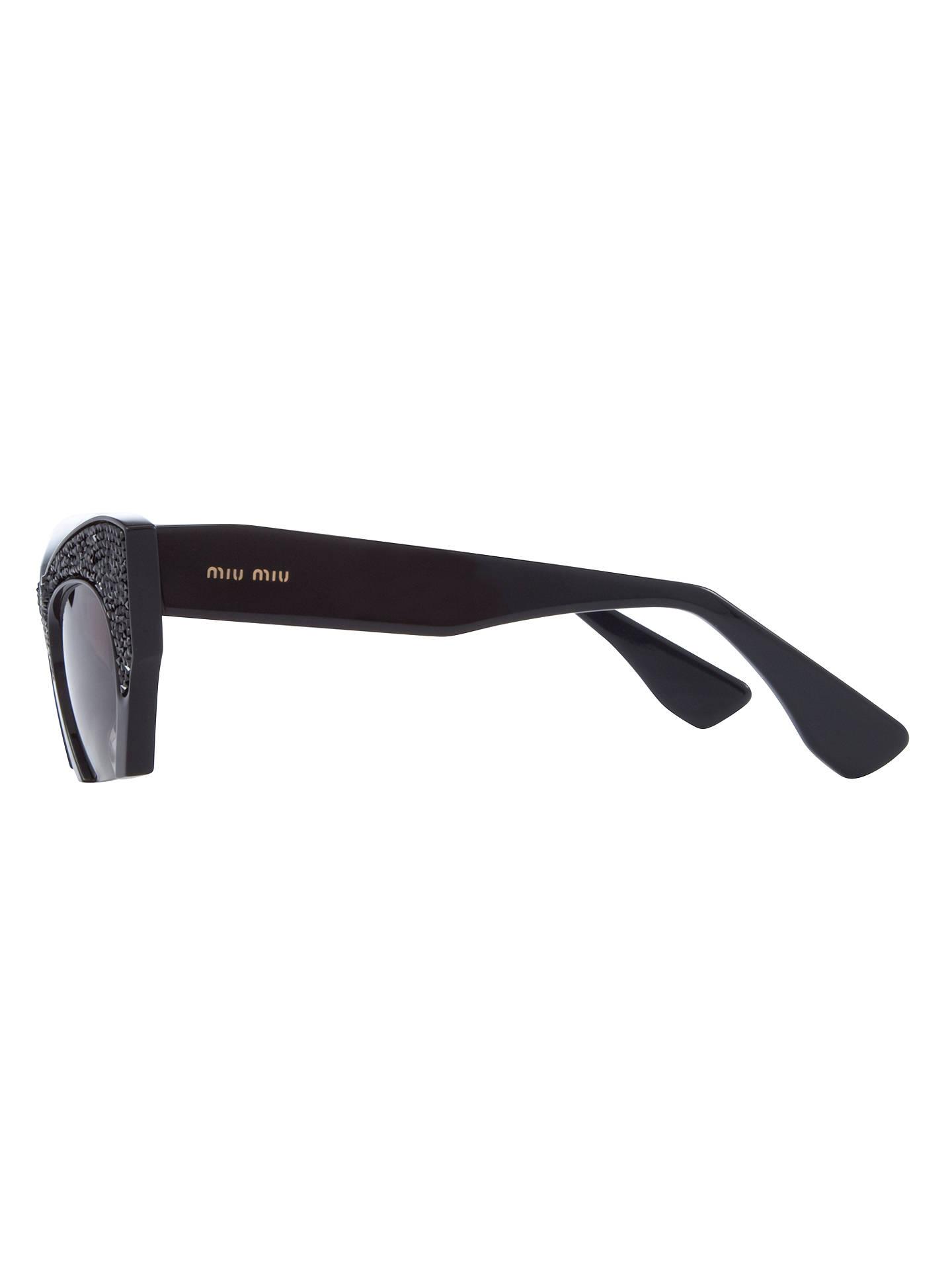 55e97afee8a1 ... Buy Miu Miu MU01QS0 Cat s Eye Frame Sunglasses