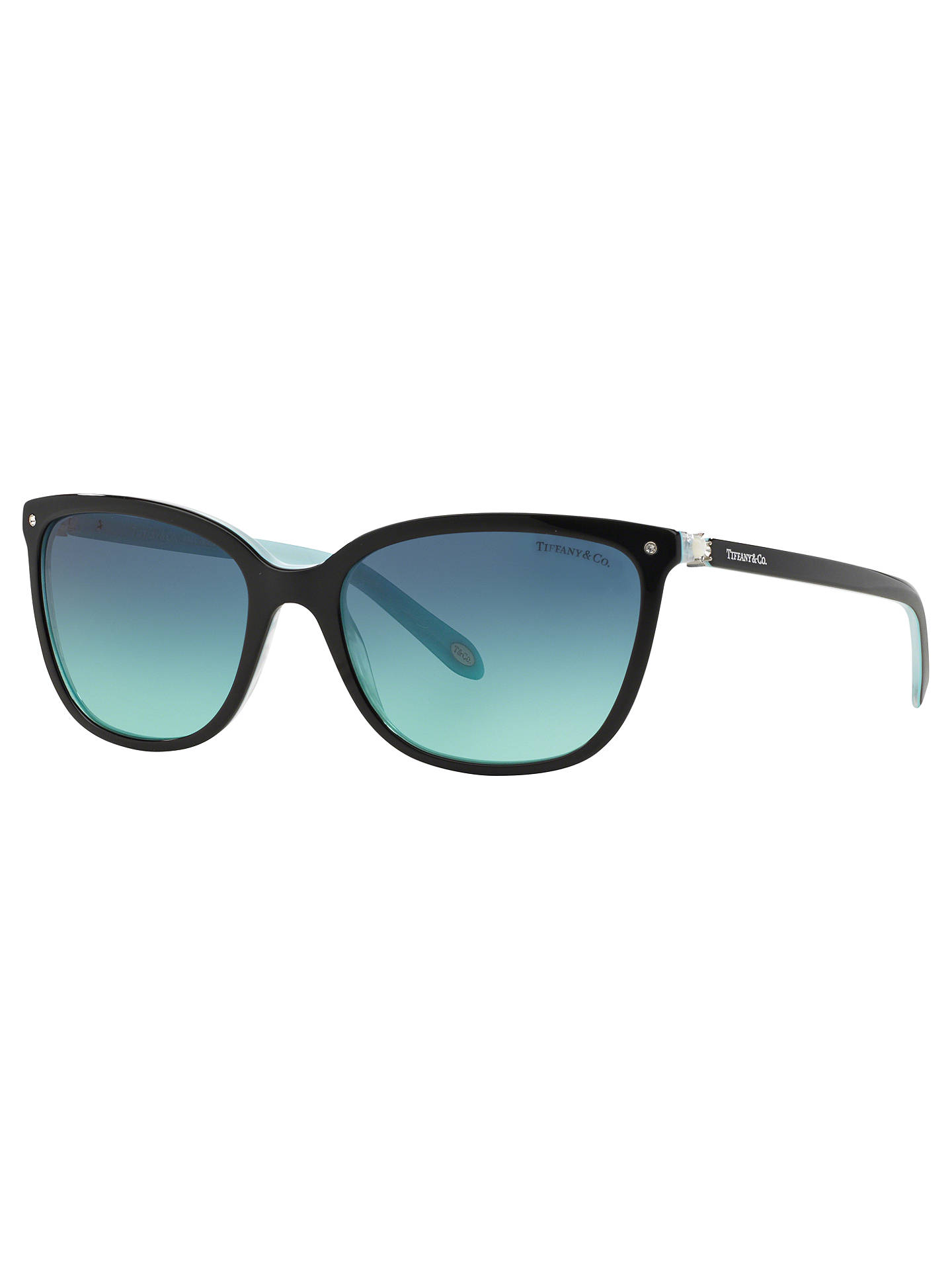 6f04726735f Tiffany   Co TF4105HB Square Sunglasses at John Lewis   Partners