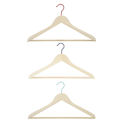Product photo of House by john lewis wooden clothes hangers set of 3
