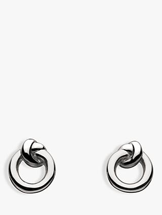 Kit Heath Sterling Silver Knot Stud Earrings, Silver
