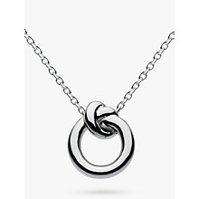 Buy Kit Heath Sterling Silver Knot Necklace, Silver Online at johnlewis.com