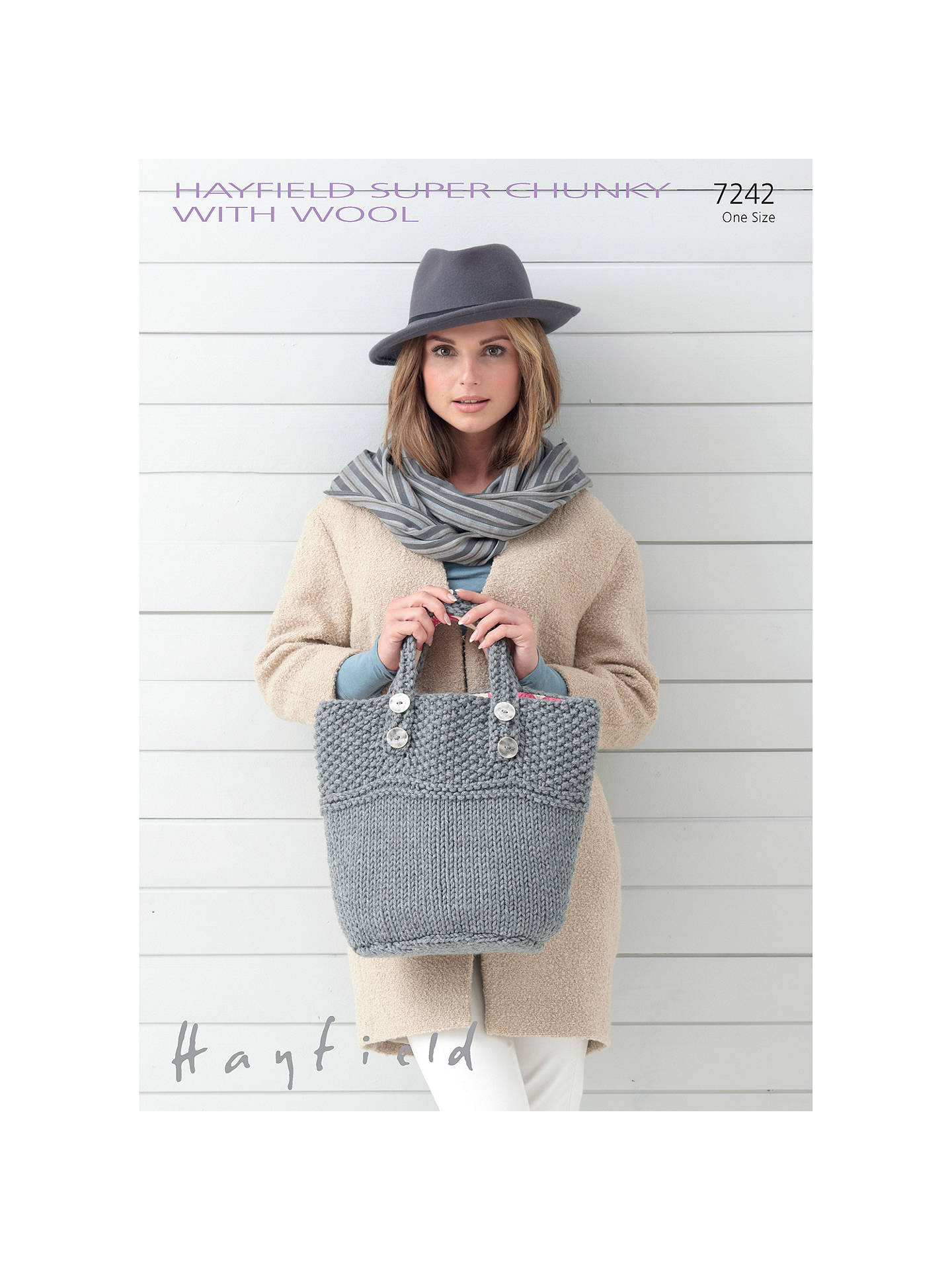 Hayfield Super Chunky with Wool Knitting Pattern, 7242 at John Lewis ...