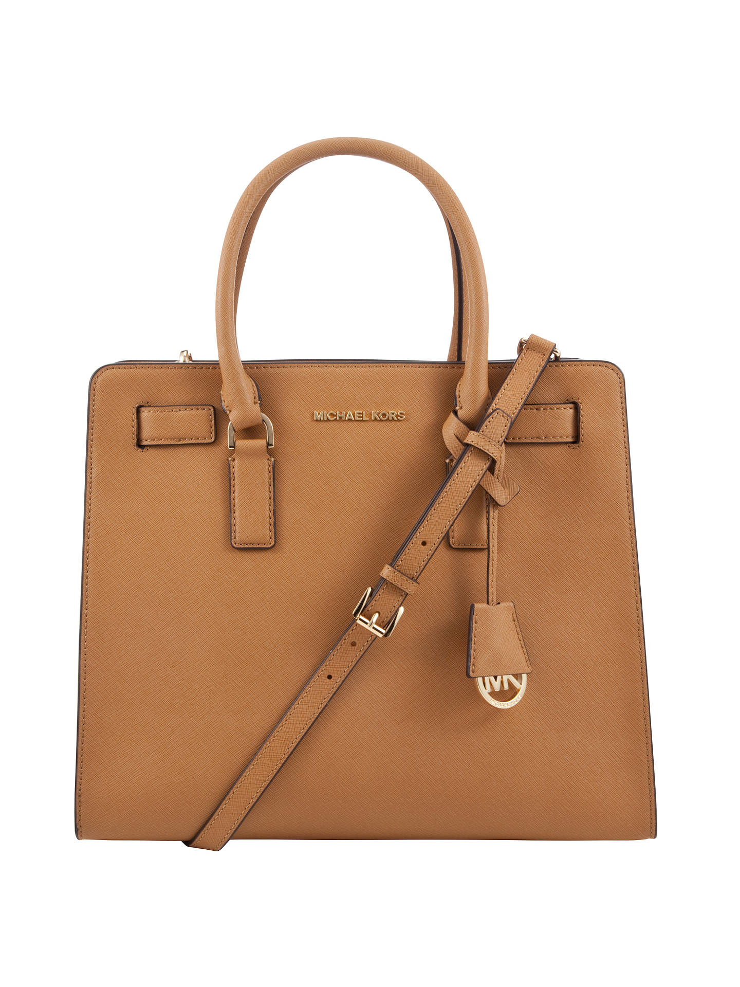 7f9f9bd66698 Buy MICHAEL Michael Kors Dillon Large Saffiano Leather Tote Bag, Peanut  Online at johnlewis.