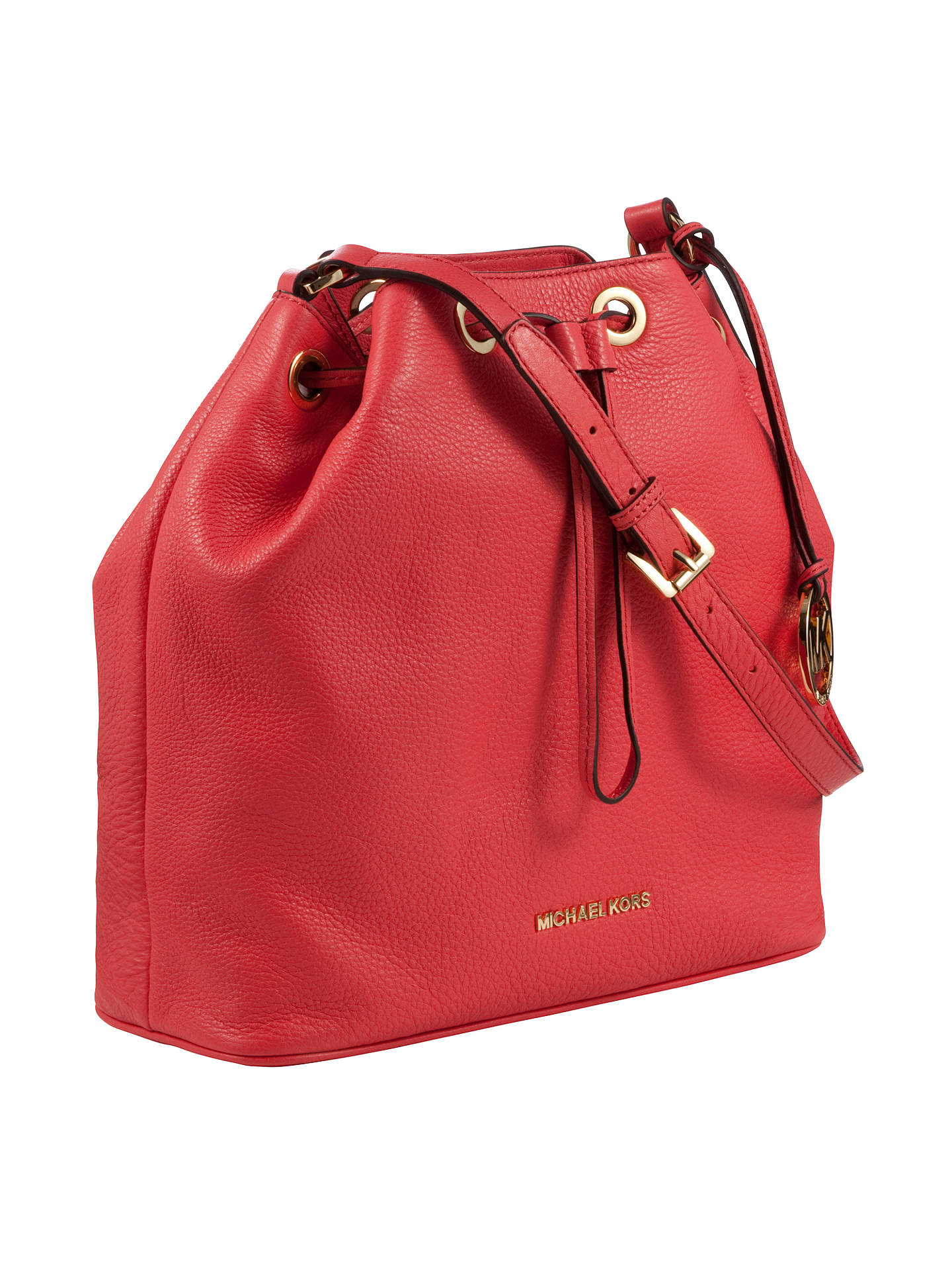 5eed0dcd55 ... where to buy buymichael michael kors jules drawstring leather bucket  bag pink watermelon online at johnlewis