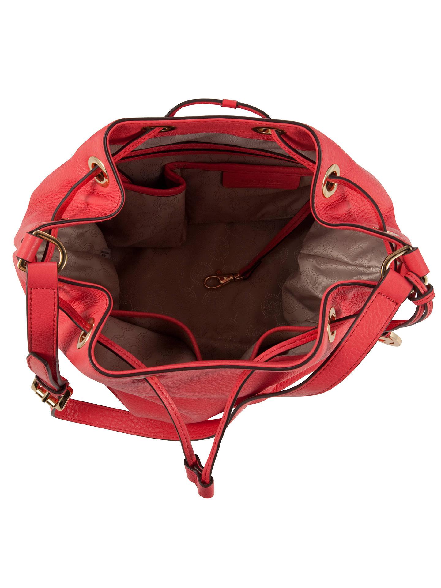 2f834a5d7e MICHAEL Michael Kors Jules Drawstring Leather Bucket Bag at John ...