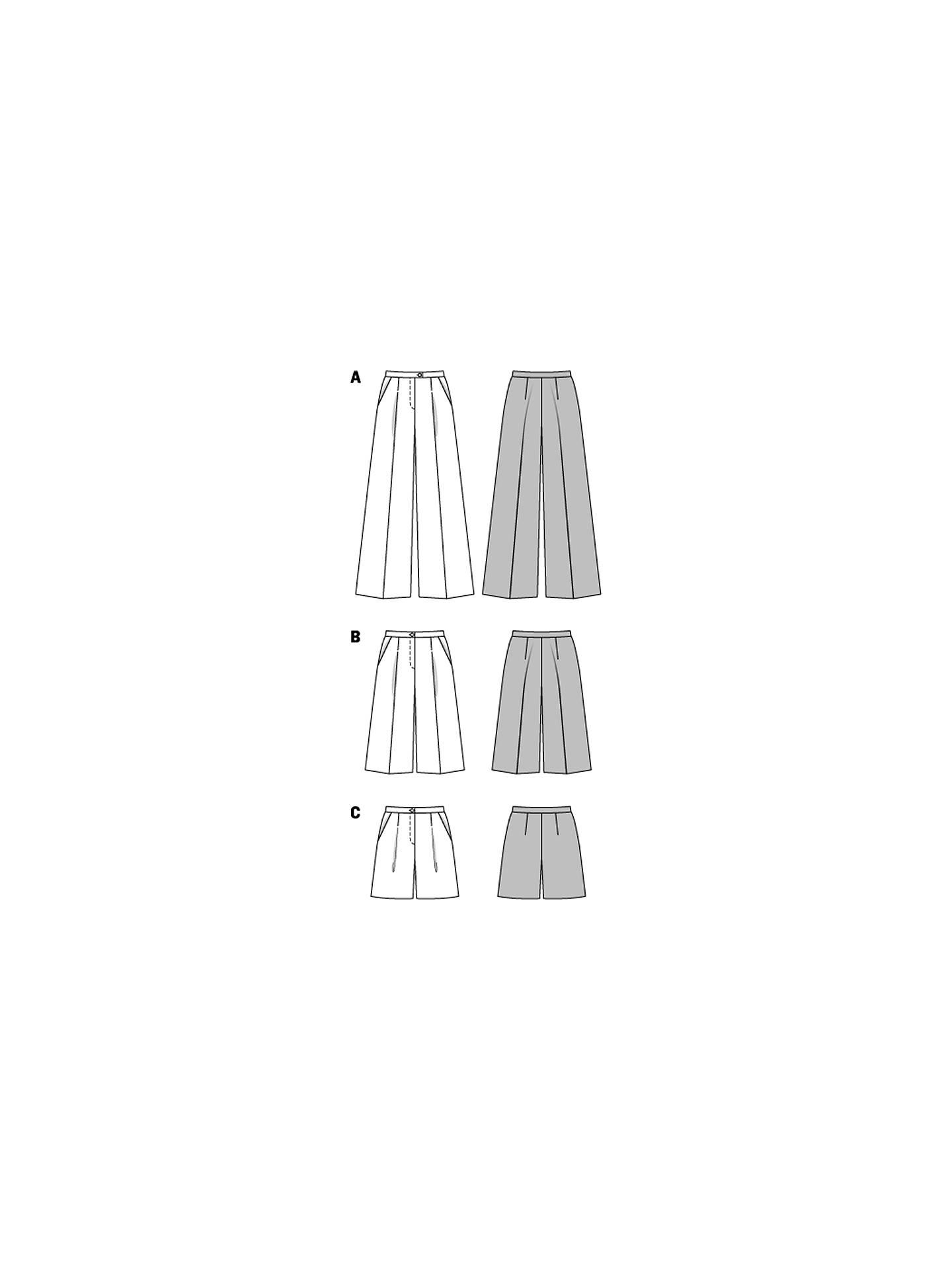 Burda Women\'s Trousers Sewing Pattern, 6812 at John Lewis & Partners