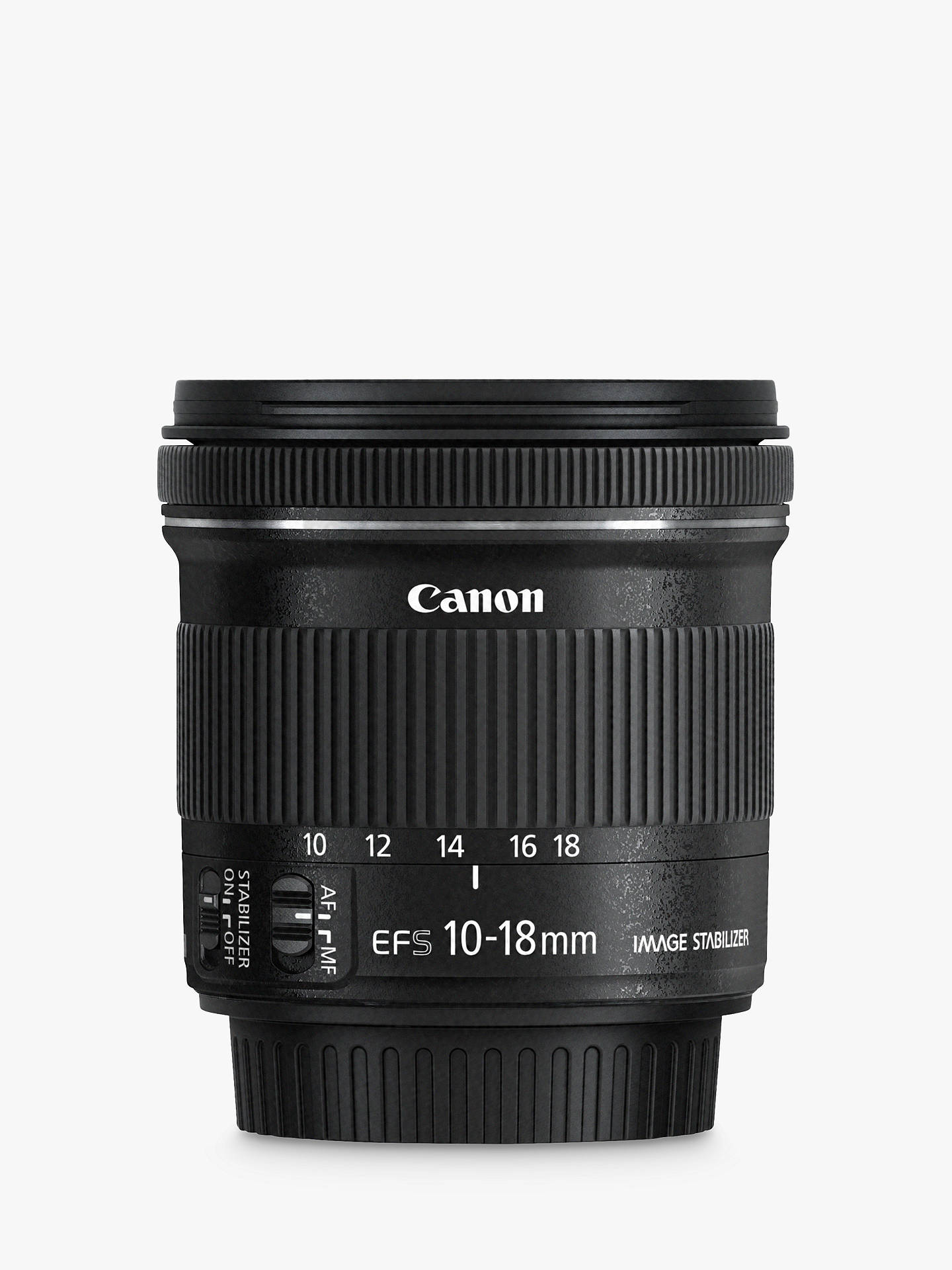 BuyCanon EF-S 10-18mm f/4.5-5.6 IS STM Wide Angle Lens Online at johnlewis.com