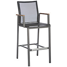 Buy Barlow Tyrie Aura Outdoor Bar Chair, FSC-Certified (Teak), Graphite Online at johnlewis.com