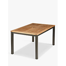 Buy Barlow Tyrie Aura 6-Seater Outdoor Dining Table, FSC-Certified (Teak), Graphite Online at johnlewis.com