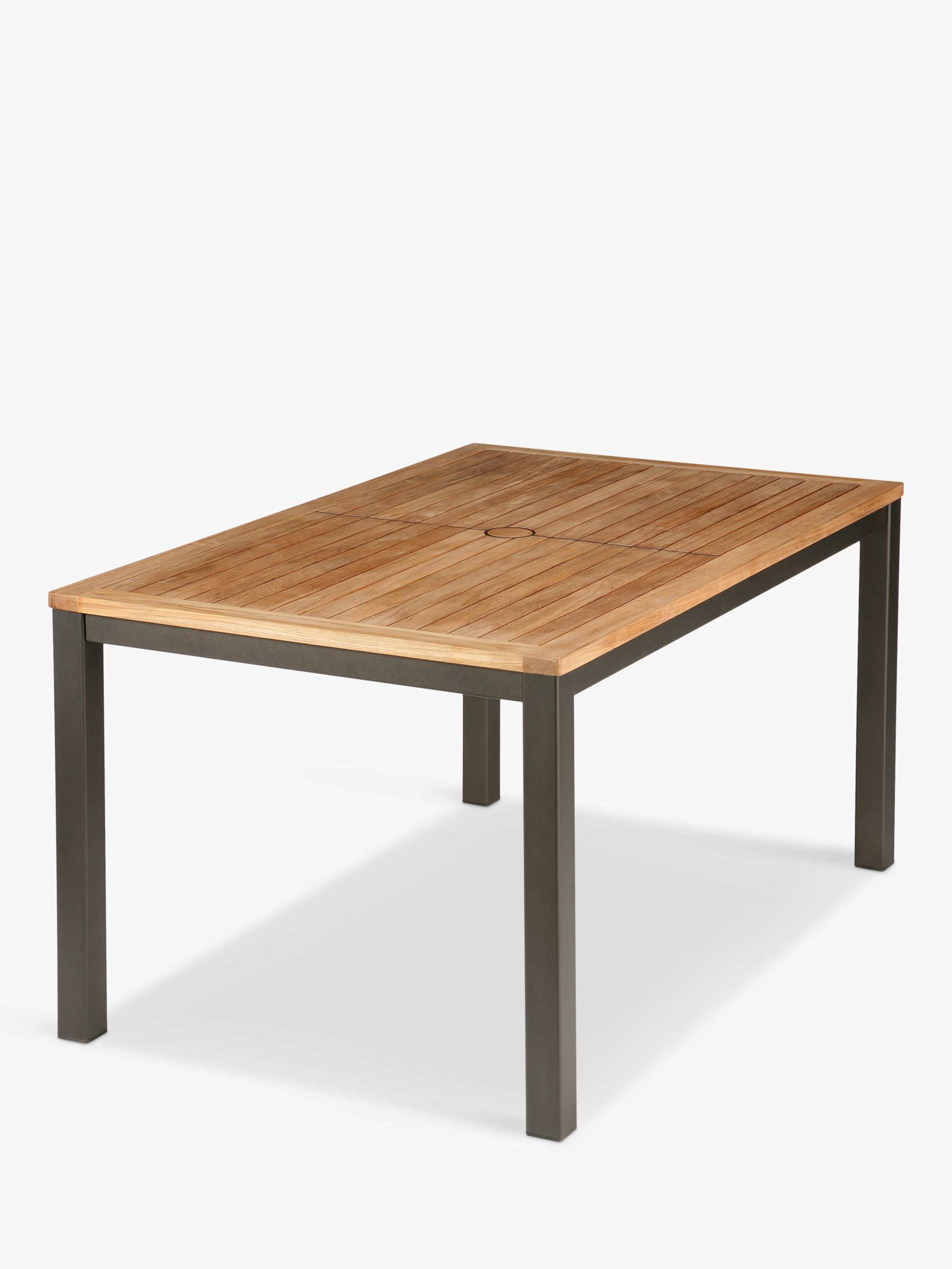 Barlow Tyrie Barlow Tyrie Aura 6-Seater Outdoor Dining Table, FSC-Certified (Teak), Graphite