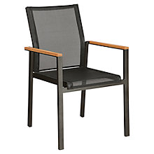 Buy Barlow Tyrie Aura Outdoor Armchair, FSC-certified (Teak), Graphite / Charcoal Online at johnlewis.com