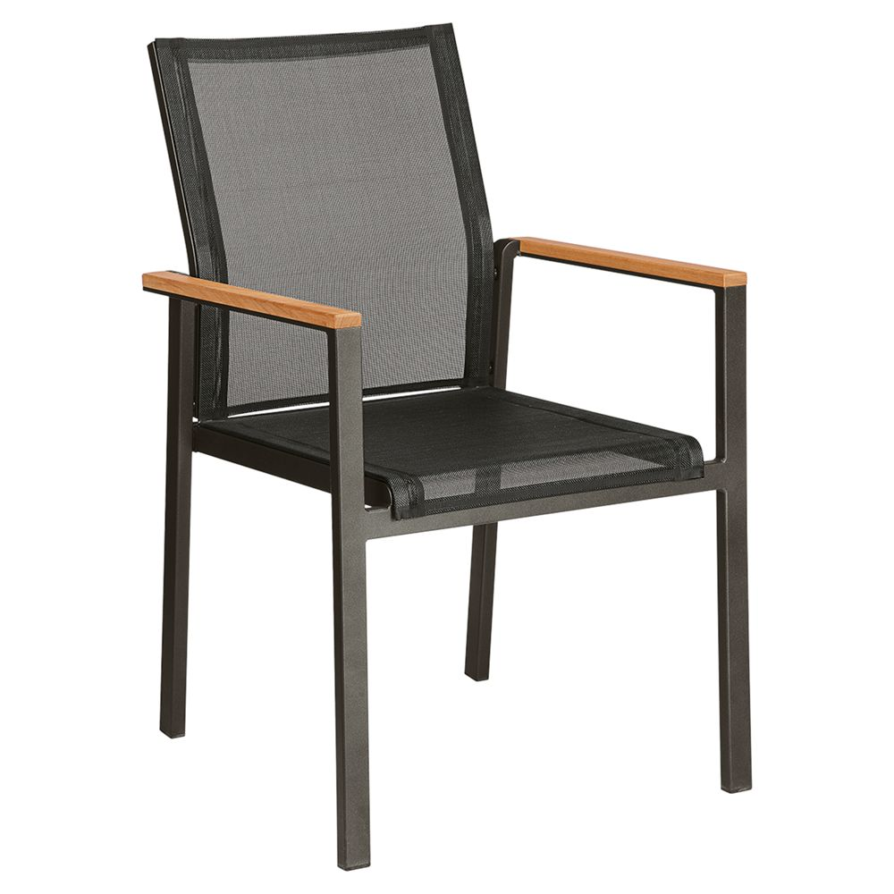 Barlow Tyrie Barlow Tyrie Aura Outdoor Armchair, FSC-Certified (Teak), Graphite/Charcoal