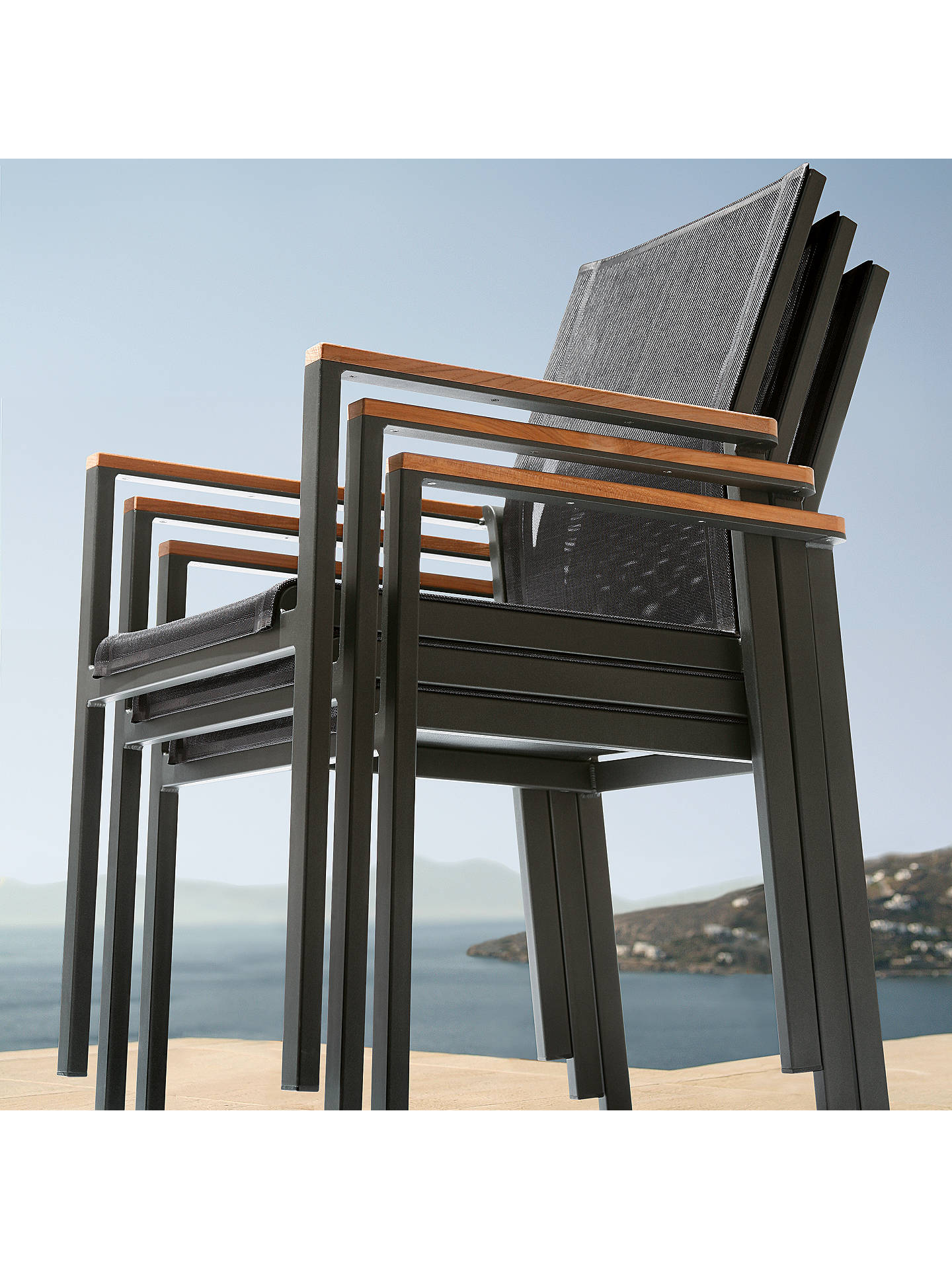 BuyBarlow Tyrie Aura Outdoor Armchair, FSC-Certified (Teak), Graphite/Charcoal Online at johnlewis.com
