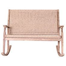 Buy LG Outdoor Hanoi Wood & Weave 2-Seat Rocking Bench, FSC-certified (Acacia) Online at johnlewis.com