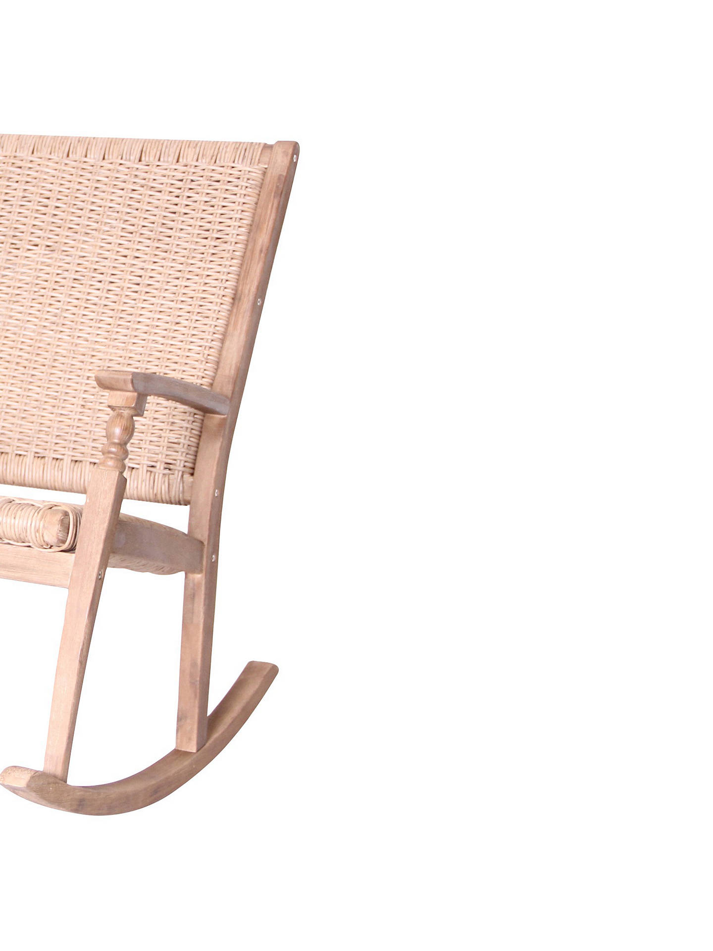 BuyLG Outdoor Hanoi Wood & Weave 2-Seat Rocking Bench, FSC-certified (Acacia) Online at johnlewis.com