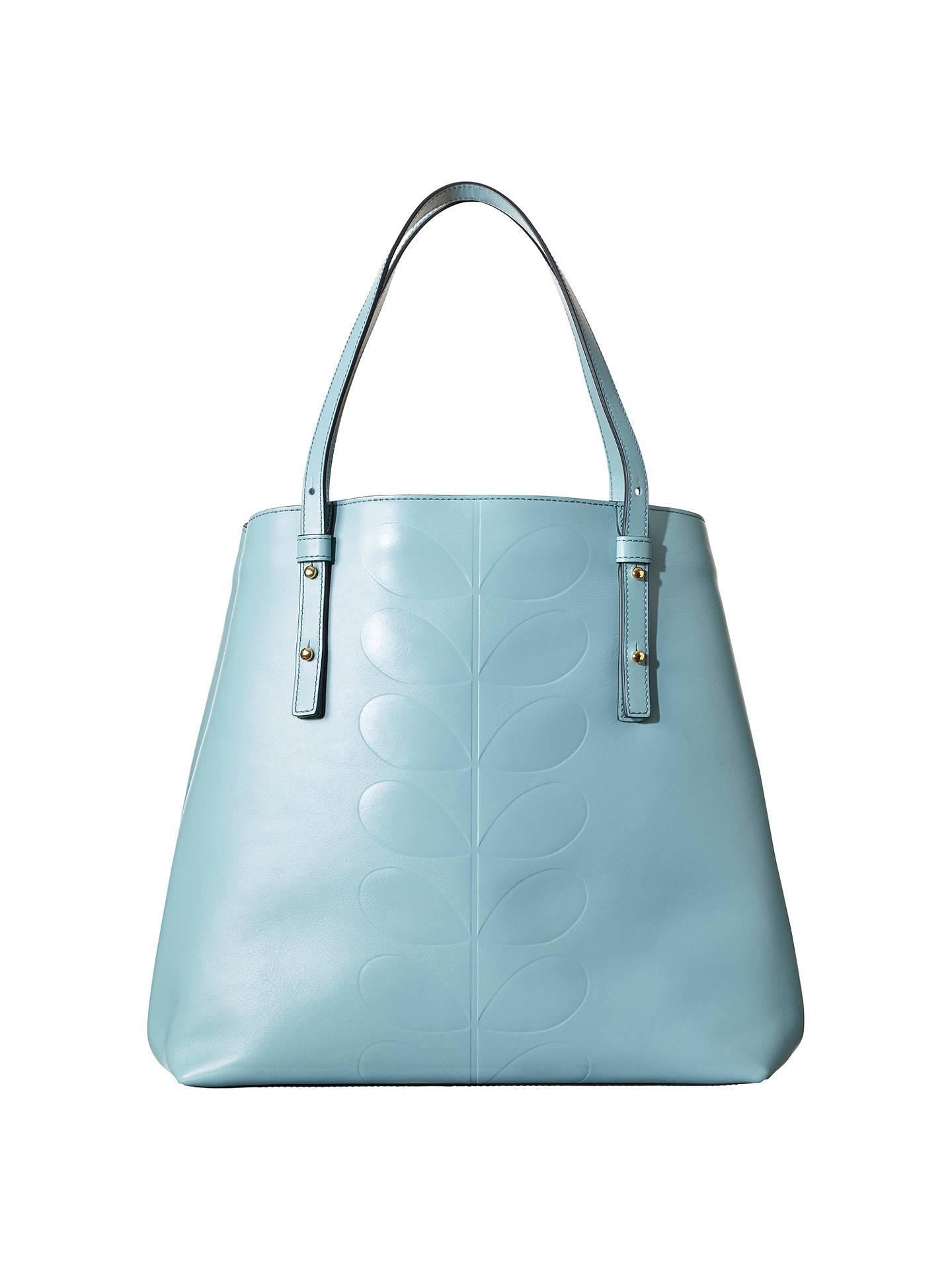 Leather Tote Bag Blue At John Lewis