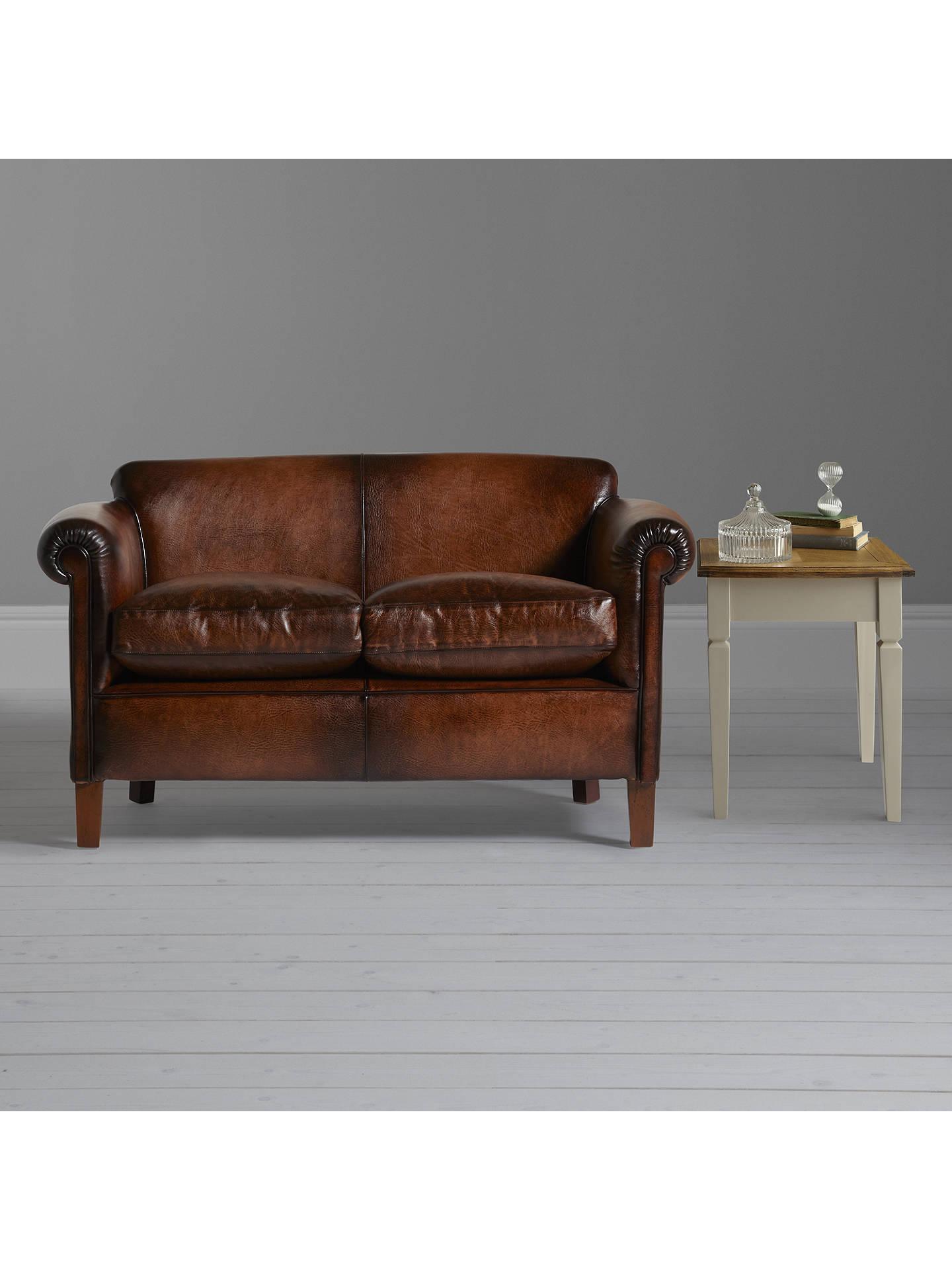 Wondrous John Lewis Partners Camford Petite Leather Sofa Buffalo Bralicious Painted Fabric Chair Ideas Braliciousco