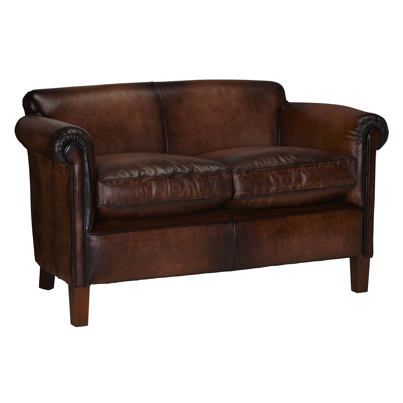 ... BuyJohn Lewis Camford Petite Leather Sofa, Buffalo Antique Online at johnlewis.com ...
