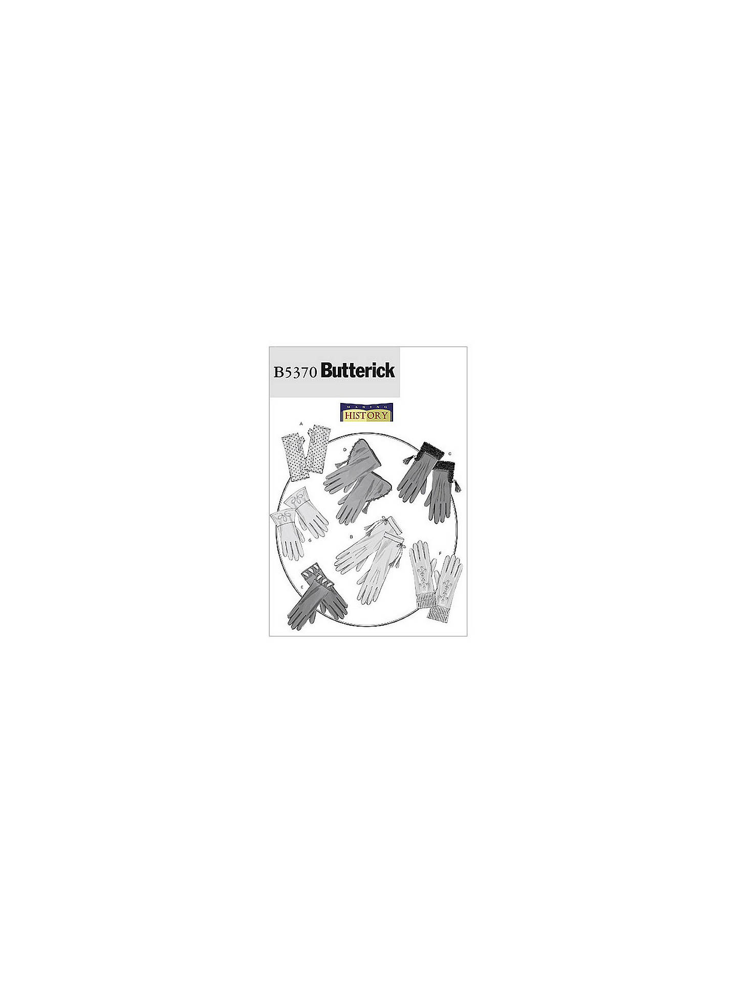 Butterick Accessories Gloves Sewing Pattern, 5370, One Size at John ...