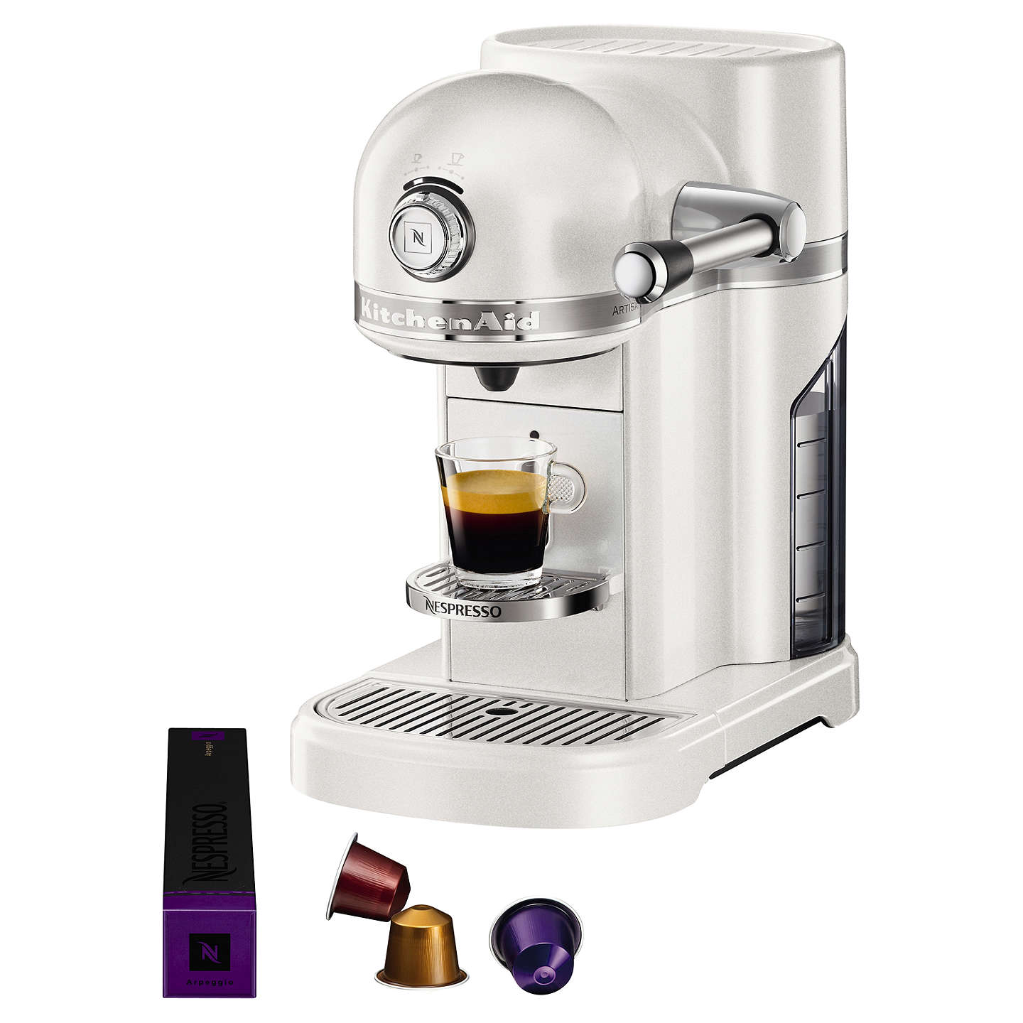 nespresso artisan coffee machine by kitchenaid at john lewis. Black Bedroom Furniture Sets. Home Design Ideas