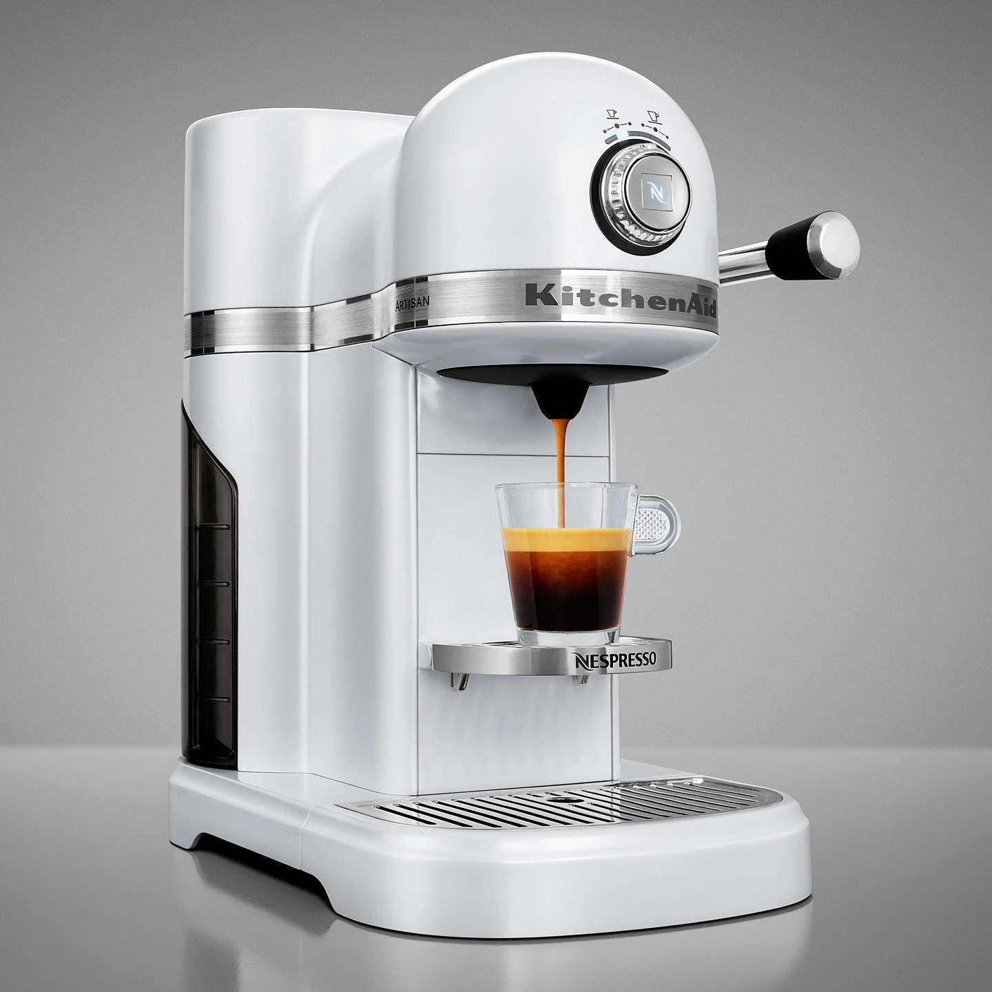 BuyNespresso Artisan Coffee Machine by KitchenAid, Frosted Pearl Online at johnlewis.com