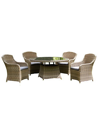 Buy Royalcraft Wentworth 4-Seater Garden Dining Table and Chairs Set Online at johnlewis.com