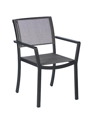 Buy Barlow Tyrie Cayman Garden Dining Armchair, Graphite / Umber Online at johnlewis.com