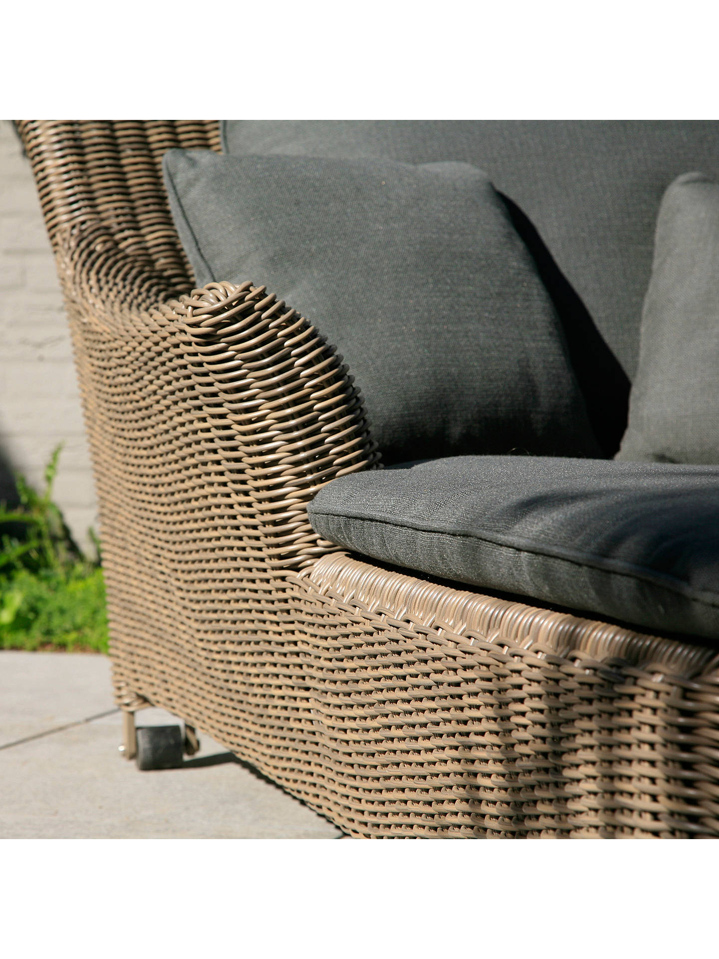 Buy 4 Seasons Outdoor Valentine 2-Seater Sunbed, Pure Online at johnlewis.com