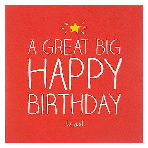 Buy Happy Jackson Big Happy Birthday Card – Happy Birthday Cards Online