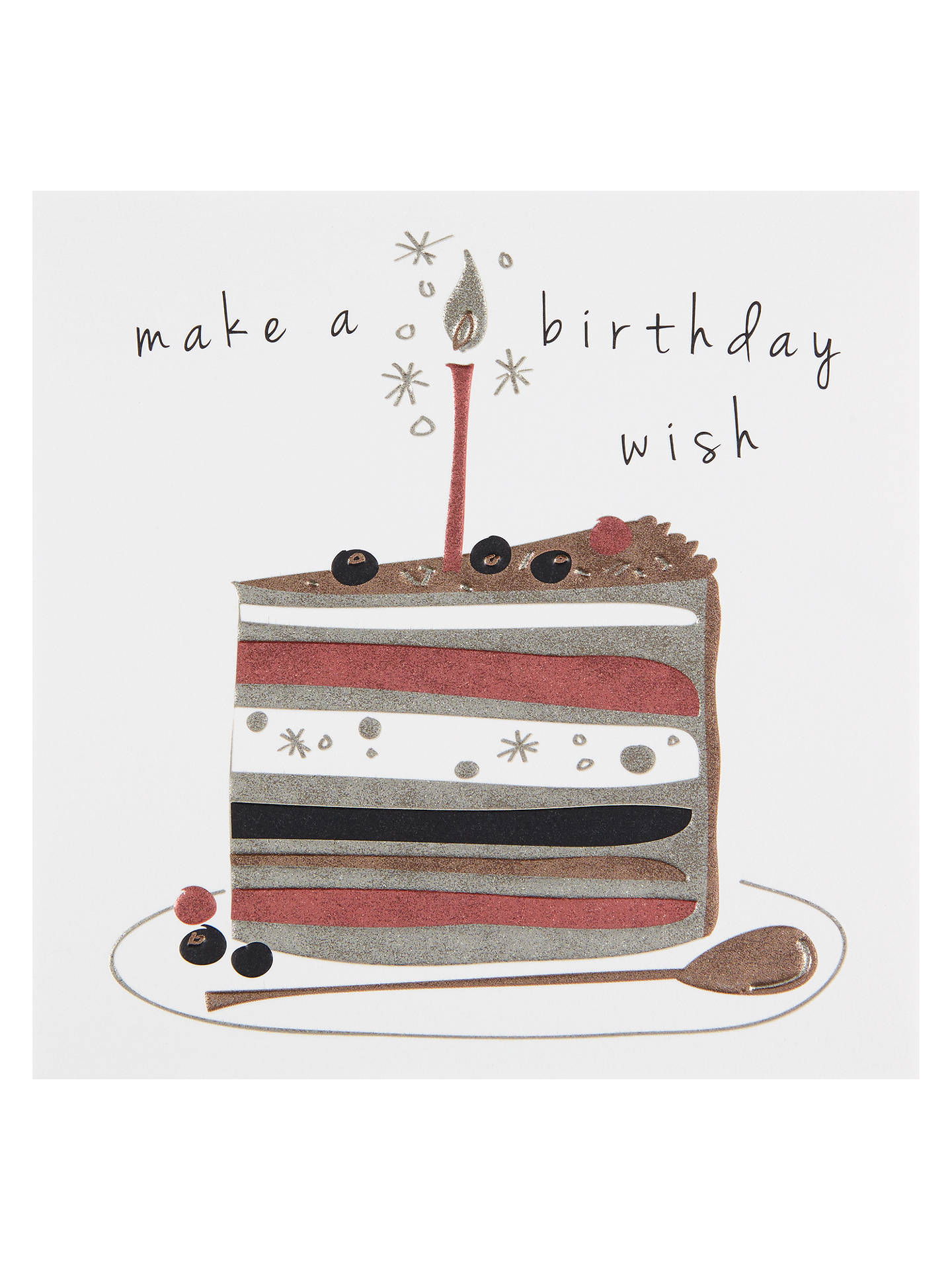 Belly Button Designs Birthday Wish Greeting Card At John Lewis
