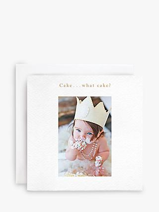 Susan O'Hanlon Baby and Cake Birthday Card