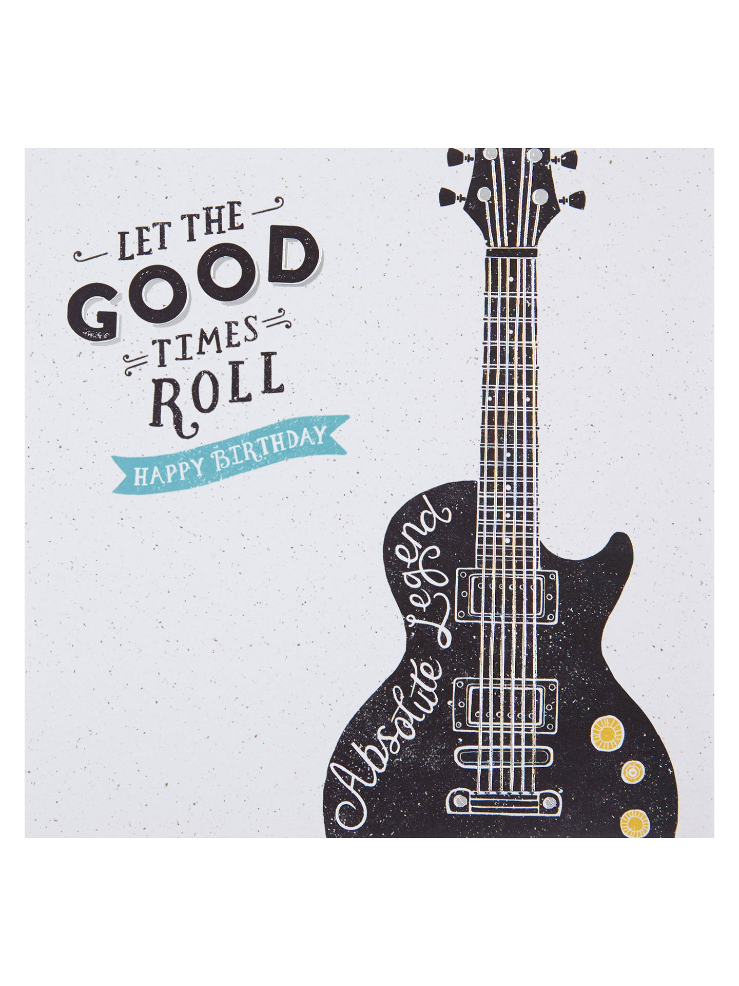 Buy Hotchpotch Guitar Birthday Card Online At Johnlewis