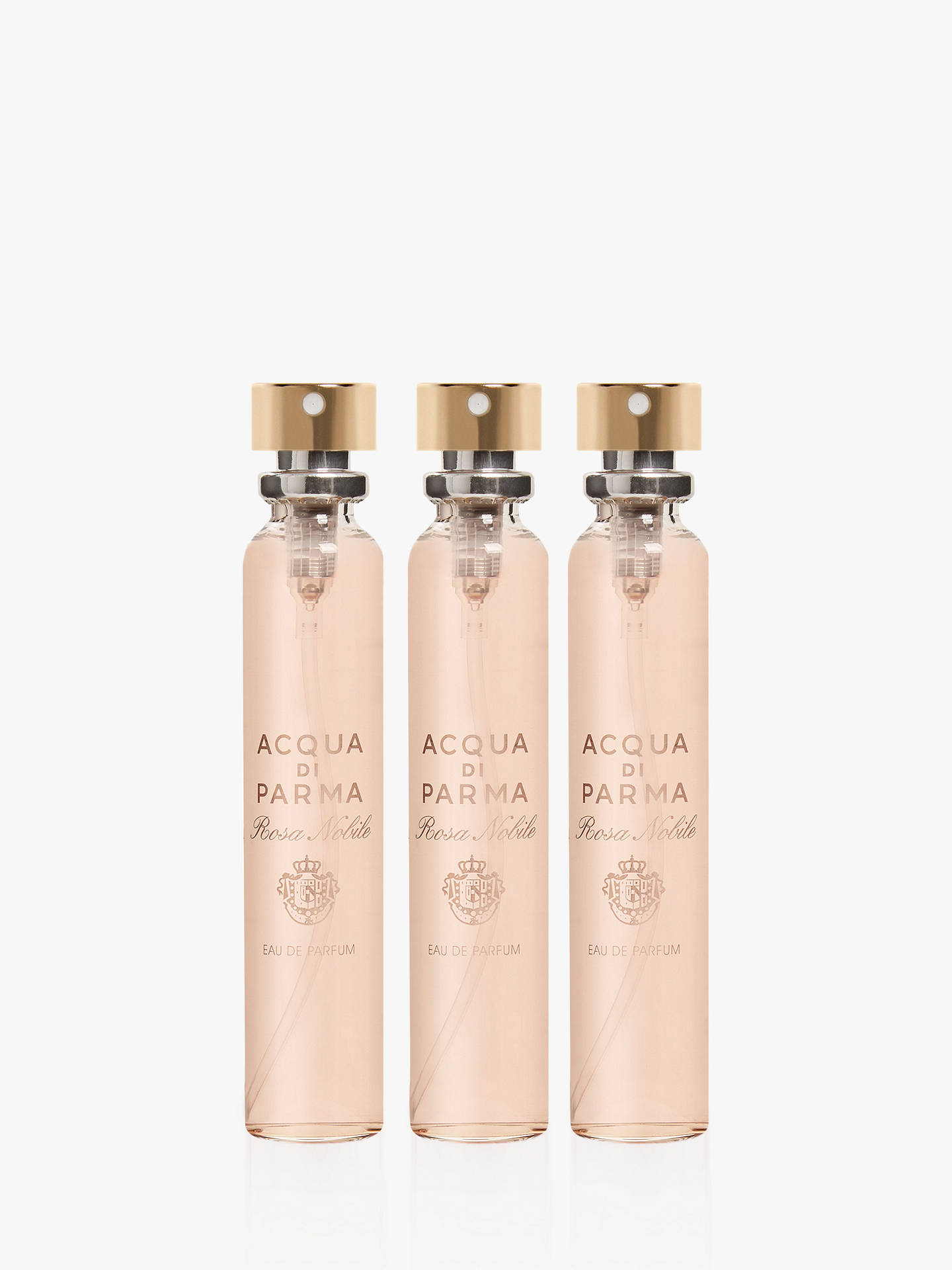 Buy Acqua di Parma Rosa Nobile Eau de Parfum Travel Refill Sprays, 3 x 20ml Online at johnlewis.com