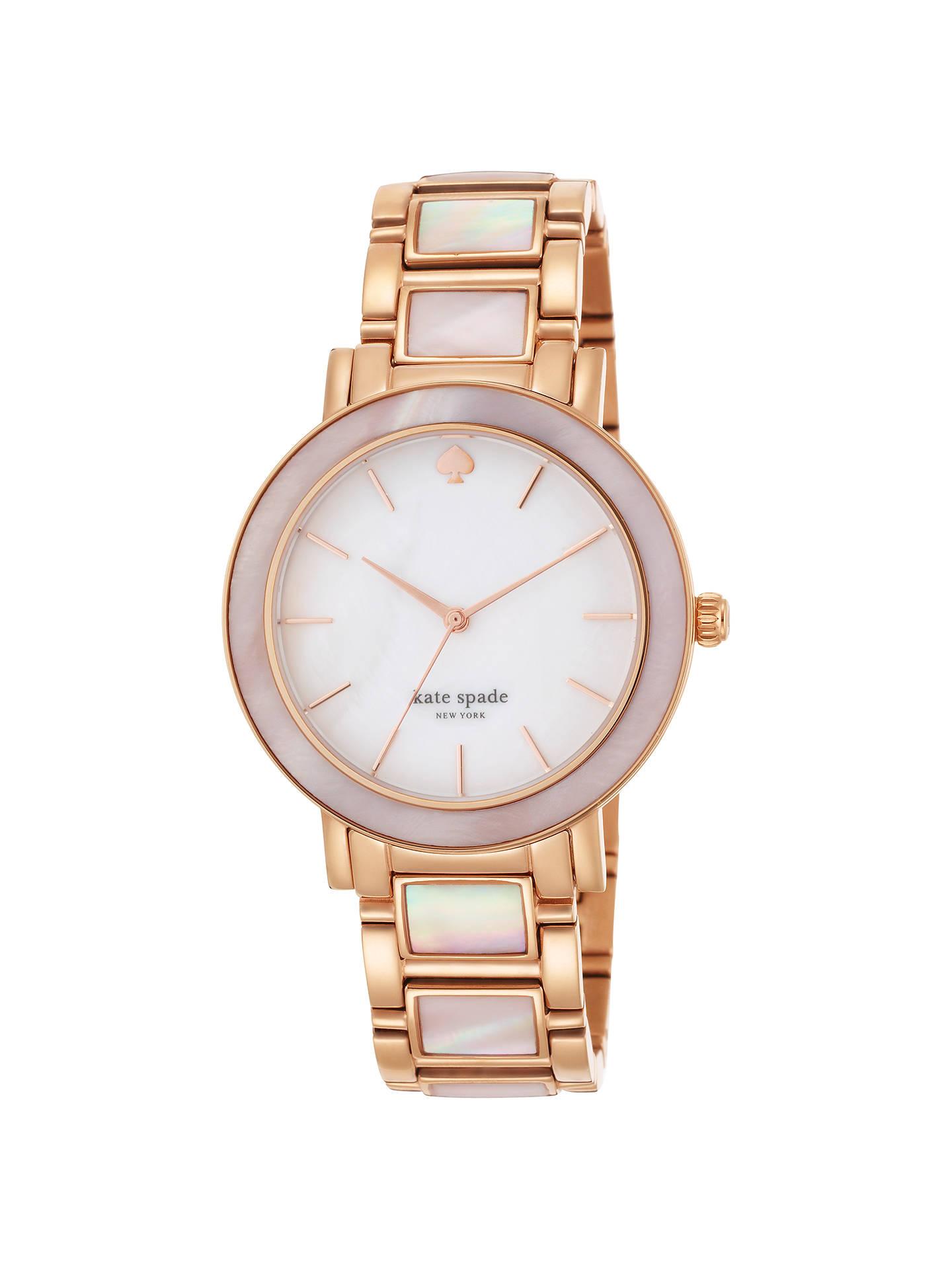 Kate Spade New York 1yru0396 Gramercy Grand Bracelet Strap Watch Rose Gold White Online