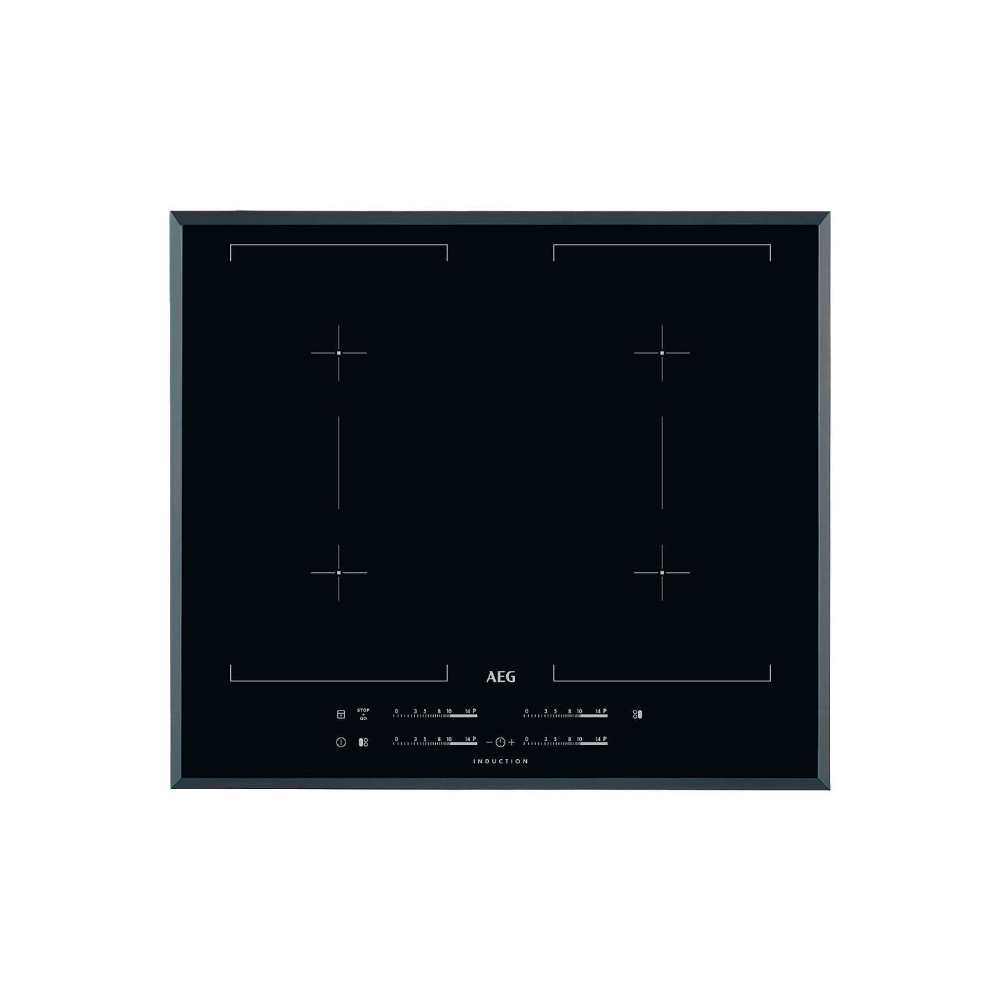 aeg hk654400fb maxisense induction hob black at john lewis. Black Bedroom Furniture Sets. Home Design Ideas
